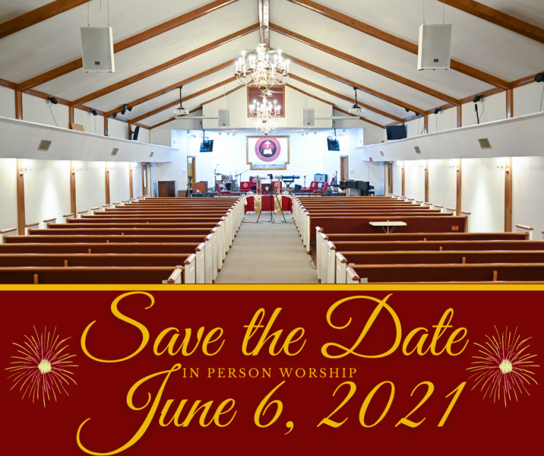 In Person Worship Save the Date